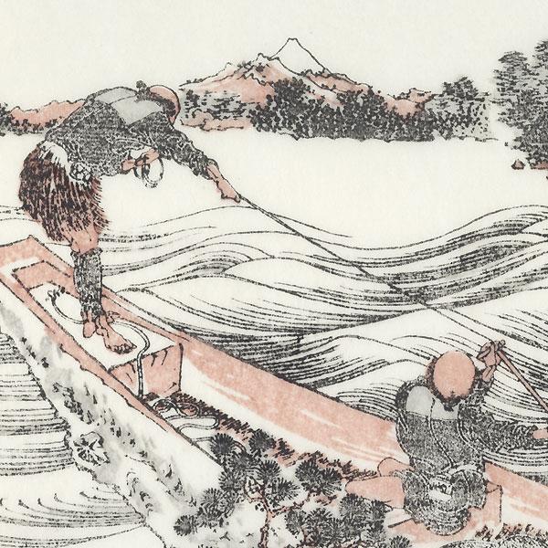 Fuji and Yatsugatake in Shinshu by Hokusai (1760 - 1849)