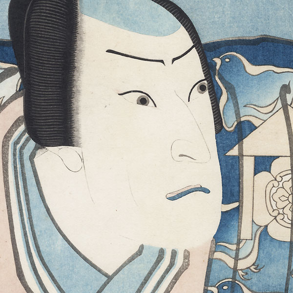 Jitsukawa Enzaburo I as (Soga) Juro Sukenari, 1848 by Hirosada (active circa 1847 - 1863)