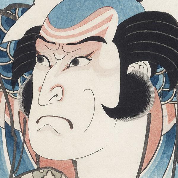Kataoka Ichizo I as Asahina Saburo, 1848 by Hirosada (active circa 1847 - 1863)