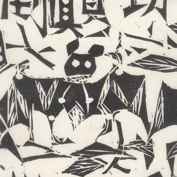 Bats  by Munakata (1903 - 1975)