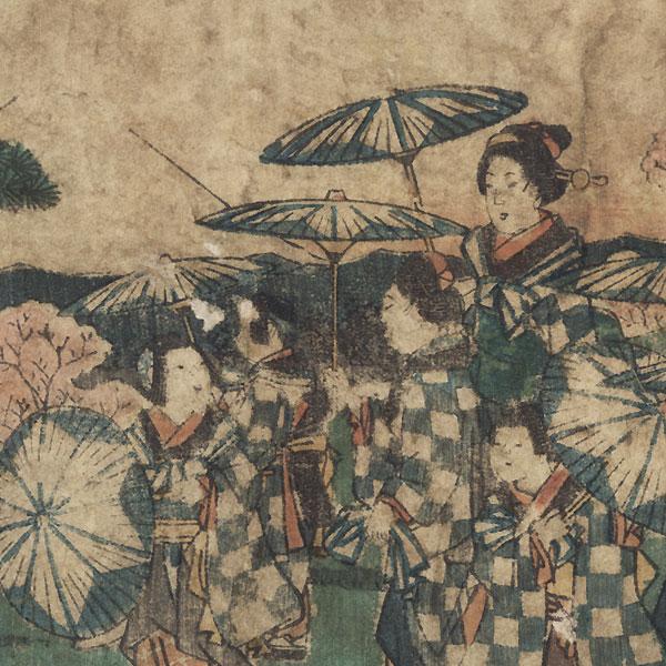 Cherry-blossom Viewing at Asuka Hill, 1853 by Hiroshige (1797 - 1858)