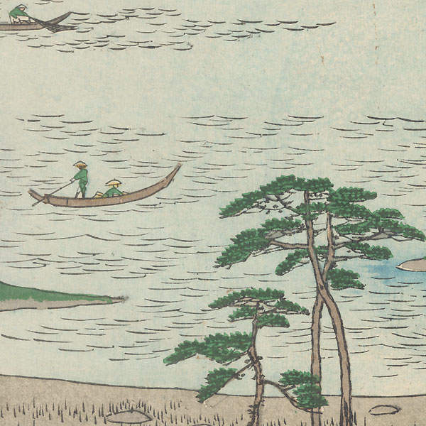 Kuroto Bay in Kazusa Province by Hiroshige (1797 - 1858)