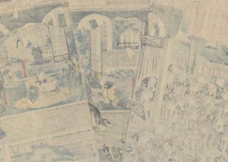 Gathering of the 47 Ronin, 1847 - 1852 by Kuniteru I (1808 - 1876)