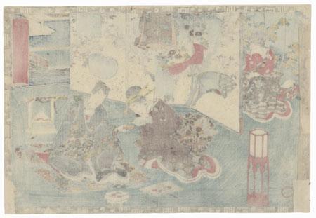 Hanachirusato, Chapter 11 by Toyokuni III/Kunisada (1786 - 1864)