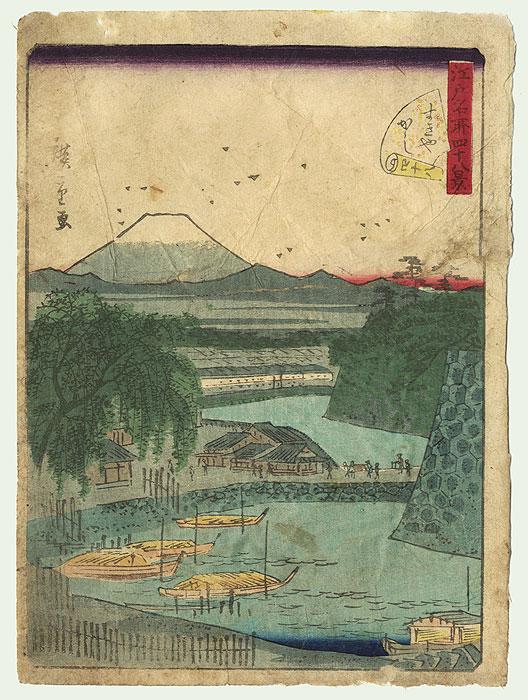 Sukiya-gashi Embankment by Hiroshige II (1826 - 1869)
