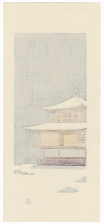 Snow at the Golden Pavilion (Kinkaku-ji) by Teruhide Kato (1936 - 2015)