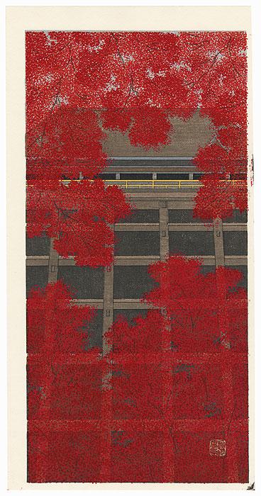 Autumn Leaves at Kiyomizu by Teruhide Kato (born 1936)