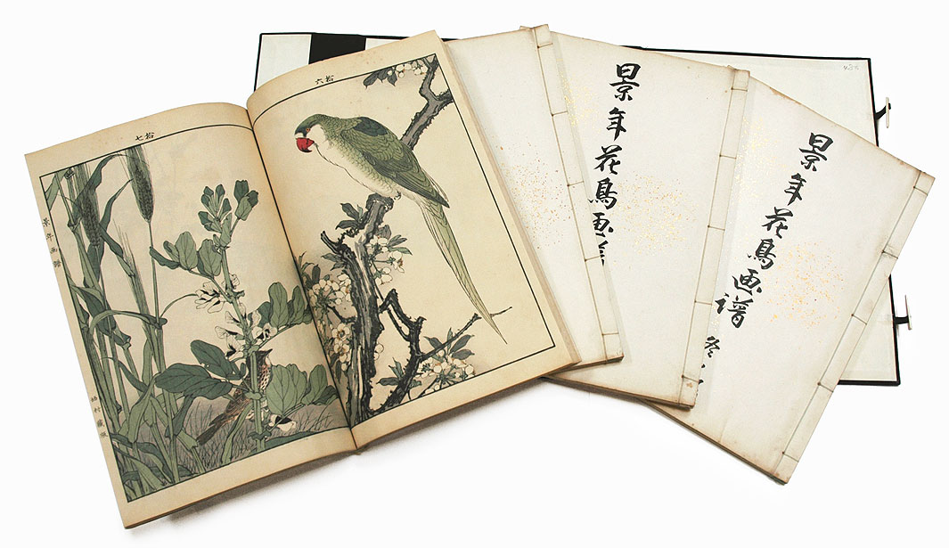 Bird and Flower Albums by Keinen, Complete Four Seasons Set by Imao Keinen (1845 - 1924)