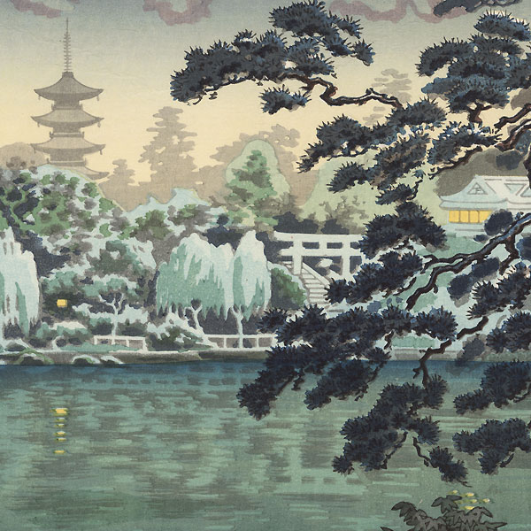 Ueno Shinobazu Pond, 1939 by Tsuchiya Koitsu (1870 - 1949)