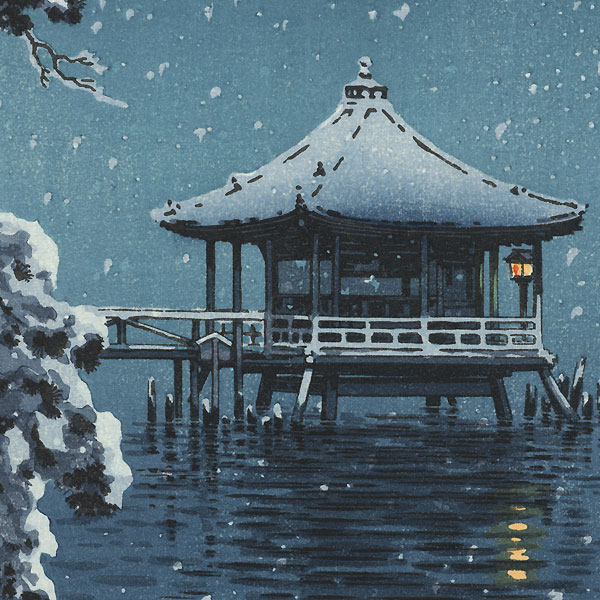 Snow on the Ukimido at Katada, 1934 by Tsuchiya Koitsu (1870 - 1949)