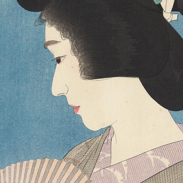 Geisha in Summer Style by Torii Kotondo (1900 - 1976)