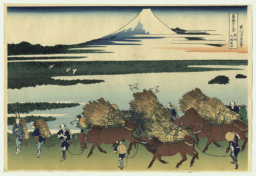 The New Fields of Ono in Suruga Province by Hokusai (1760 - 1849)
