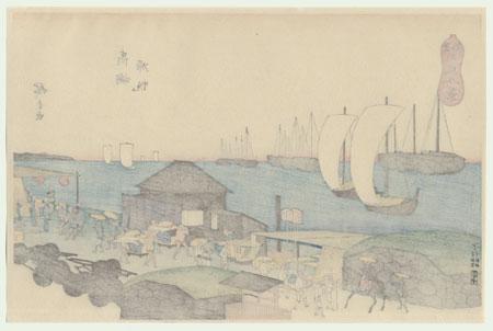 Returning Sails at Takanawa by Hiroshige (1797 - 1858)