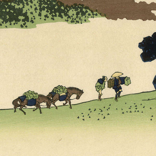 View from Inume Pass in Kai Province by Hokusai (1760 - 1849)