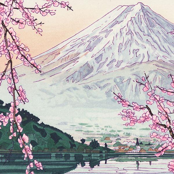 Mt. Fuji from Lake Kawaguchi, circa 1950s by Okada Koichi (1907 - ?)