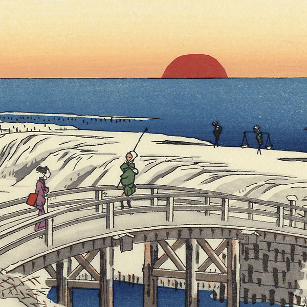 Snow at New Year Dawn at Susaki by Hiroshige (1797 - 1858)
