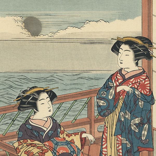 Moon Viewing by Shunsho (1726 - 1792)