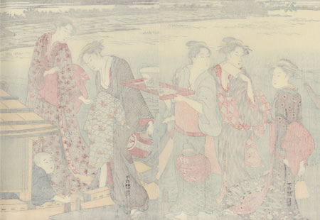 Pleasure Boat on a Summer Evening by Shuncho (active circa 1780 - 1795)