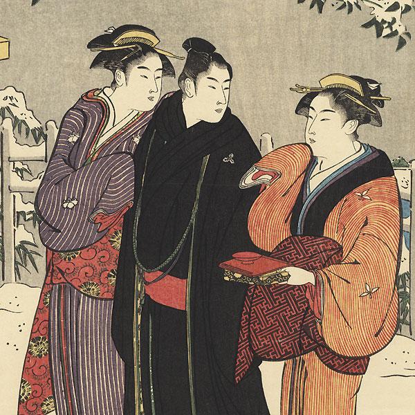 Winter Stroll by Kiyonaga (1752 - 1815)