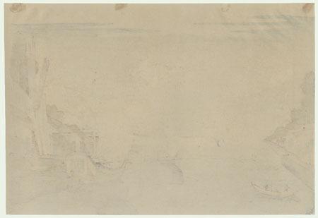Fishing Boats at Sea by Hokuju (active circa 1789 - 1818)