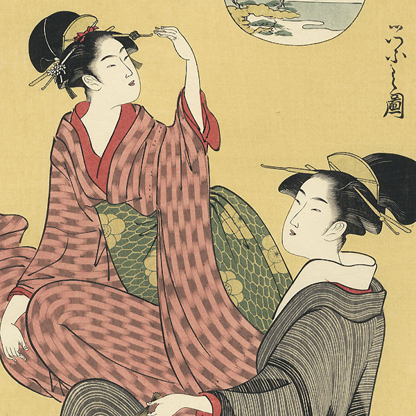 Autumn Moon at Akashi by Eishi (1756 - 1829)
