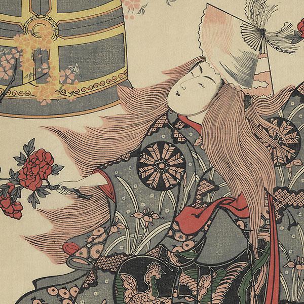 Nakamura Tomijuro in Musume Dojo by Kiyohiro (active 1737 - 1776)