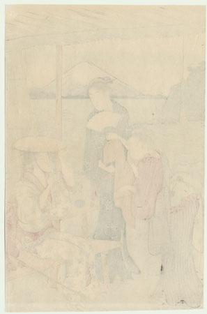 Viewing Fuji by Kiyonaga (1752 - 1815)