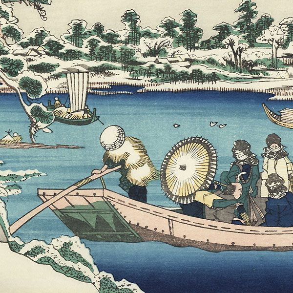 Sight of Sumida River in Edo  by Eisen (1790 - 1848)