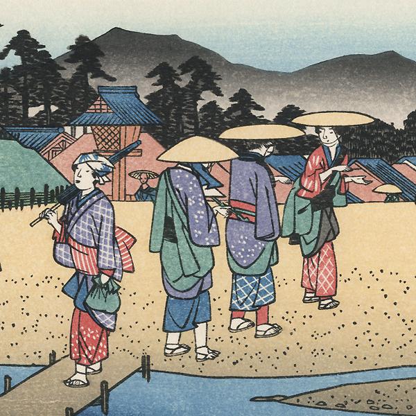 The Crossroad at Kusatsu, No.69 by Hiroshige (1797 - 1858)