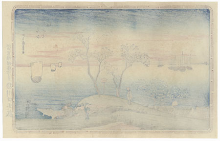 Evening Cherry Trees and Goten Hill by Hiroshige (1797 - 1858)