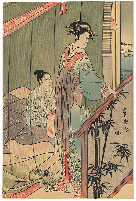 Retiring for the Evening by Toyokuni I (1769 - 1825)