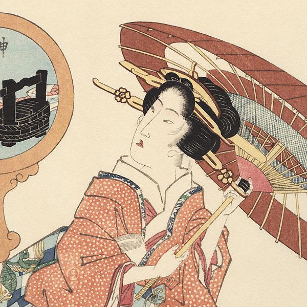Kanda Myojin Shrine by Eisen (1790 - 1848)