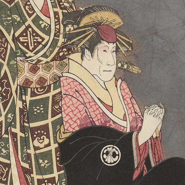 Sawamuro Sojuro III and Segawa Kikunojo III by Sharaku (active 1794 - 1795)
