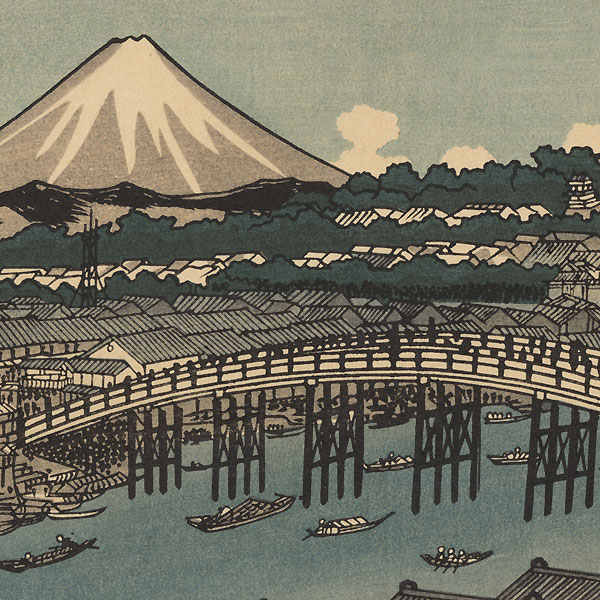Mt. Fuji from Nihonbashi, Edo by Eisen (1790 - 1848)