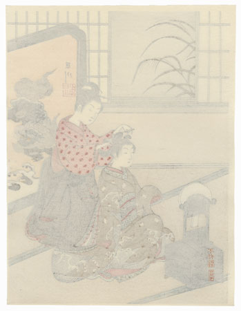 Autumn Moon of the Mirror Stand by Harunobu (1724 - 1770)