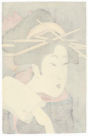 A Matchless Beauty by Utamaro (1750 - 1806)