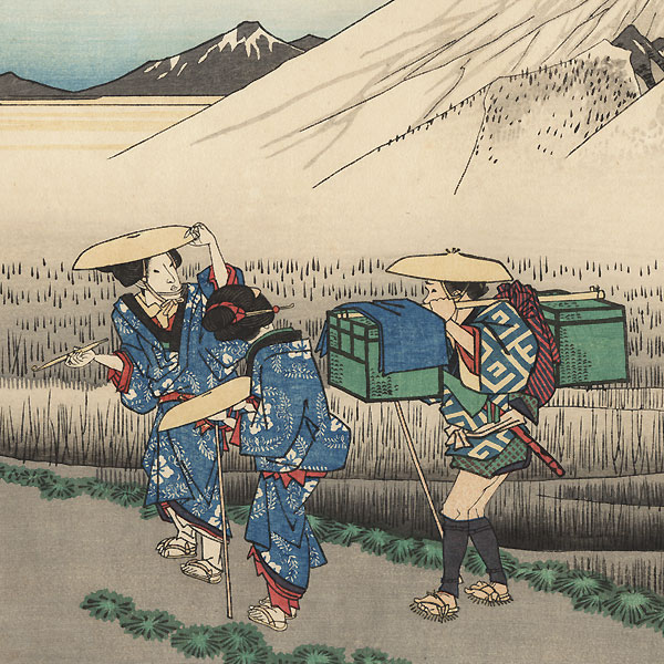 Mount Fuji in the Morning from Hara by Hiroshige (1797 - 1858)