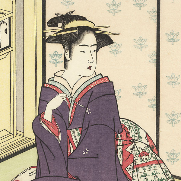 A Young Couple by Shunsho (1726 - 1792)
