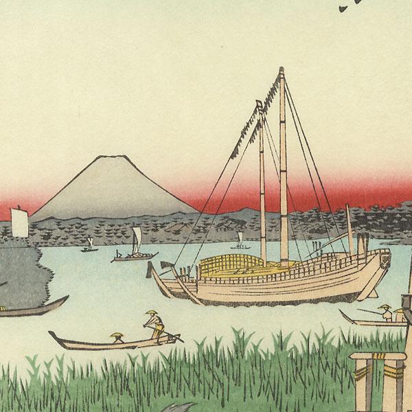 Off Tsukuda Island in the Eastern Capital by Hiroshige (1797 - 1858)