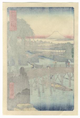 Ichikoku Bridge in the Eastern Capital by Hiroshige (1797 - 1858)