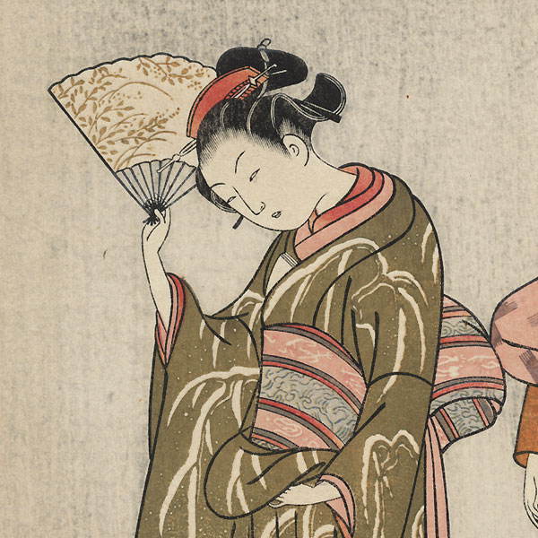 Clearing Weather of the Fan by Harunobu (1724 - 1770)