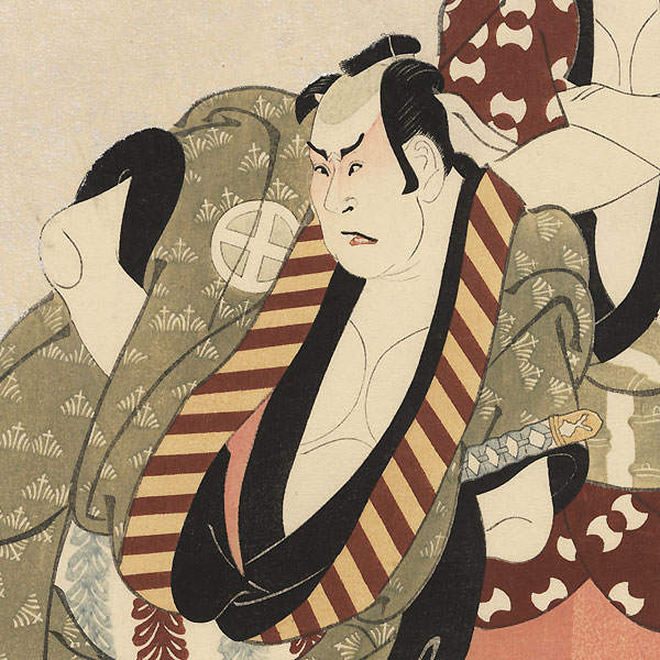 Arashi Ryuzo and Otani Hiroji by Sharaku (active 1794 - 1795)