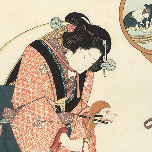 Beauty with a Shamisen by Toyokuni III/Kunisada (1786 - 1864)
