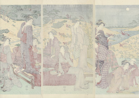 Evening Outing in Autumn by Shuncho (active circa 1780 - 1795)