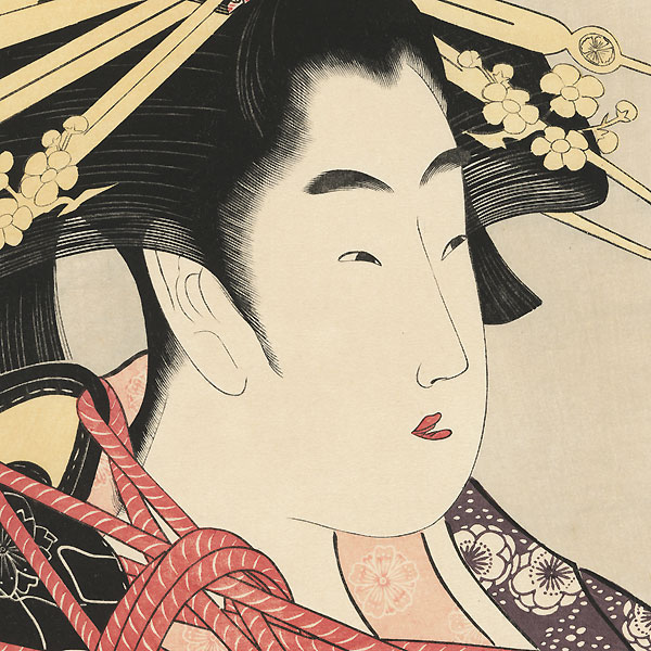 The Courtesan Yosooi of the Matsubaya by Eisui (active circa 1790 - 1823)