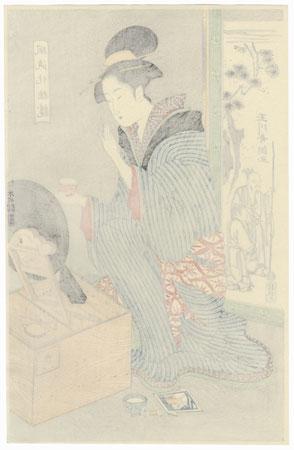 Woman Applying Makeup by Shucho (active circa 1790 - 1803)