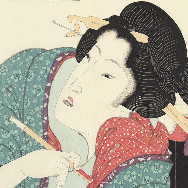 Beauty Writing a Letter by Eisen (1790 - 1848)