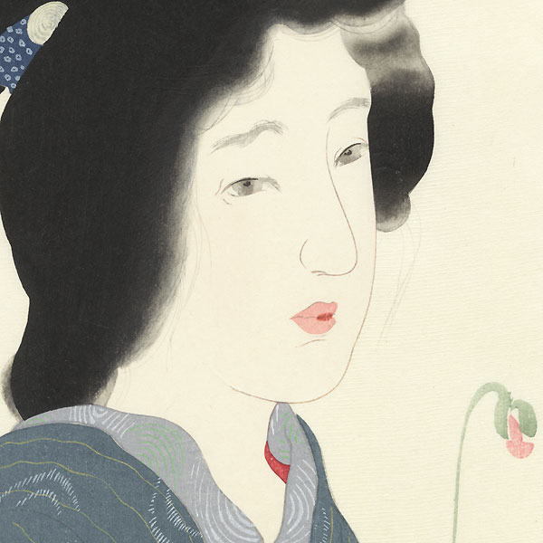 Poppy (Keshi no Hana) Kuchi-e Print by Kiyokata Kaburagi (1886 - 1972)