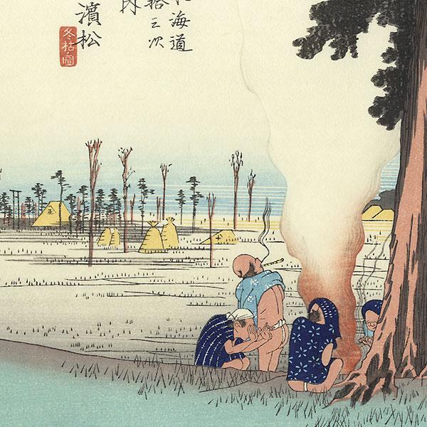 Winter Desolation at Hamamatsu by Hiroshige (1797 - 1858)