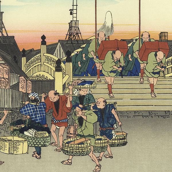 Morning View at Nihon Bridge by Hiroshige (1797 - 1858)